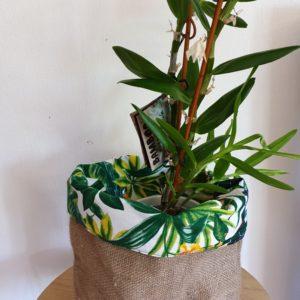 Cache pot en jute – sac de café Papouasie Nouvelle Guinée-