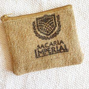 Porte monnaie en jute et tissu – Sacaria Imperial  –
