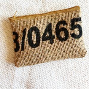 Porte monnaie en jute et tissu – Gualapagos-