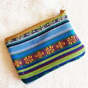 Porte monnaie en jute et tissu –  Pérou –