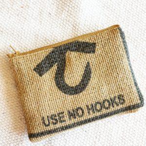 Porte monnaie en jute et tissu – No hooks-