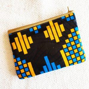 Porte monnaie en jute et tissu –  Colombie –