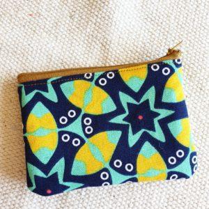 Porte monnaie en jute et tissu – Mexico  –