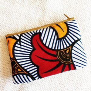 Porte monnaie en jute et tissu – Abidjan  –