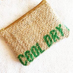 Porte monnaie en jute et tissu –  Cool Dry –