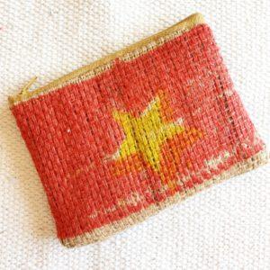 Porte monnaie en jute et tissu – Vietnam  –