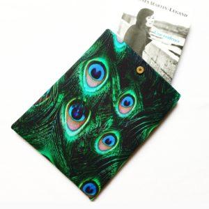 Pochette à livres – tissu Paon de Chine