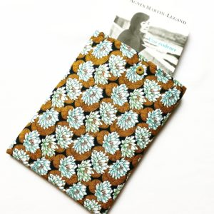 Pochette à livres – tissu Nénuphars
