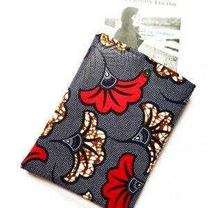 Pochette à livres – tissu Wax Ghana