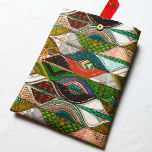 Pochette à livres – tissu géométrie
