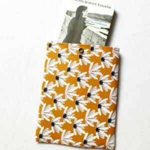 Pochette à livres – tissu Marguerite