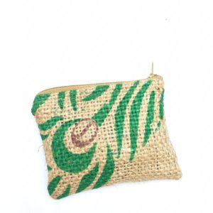 Porte monnaie en jute et tissu –  Jodhpur