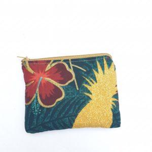 Porte monnaie en jute et tissu –  Nazret