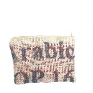 Porte monnaie en jute et tissu –  Udaipur
